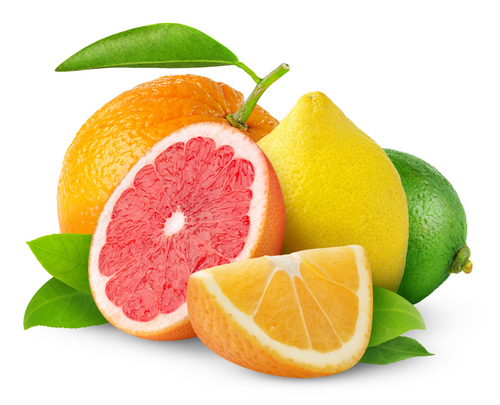 A pile of acidic fruits that can harm your oral health.